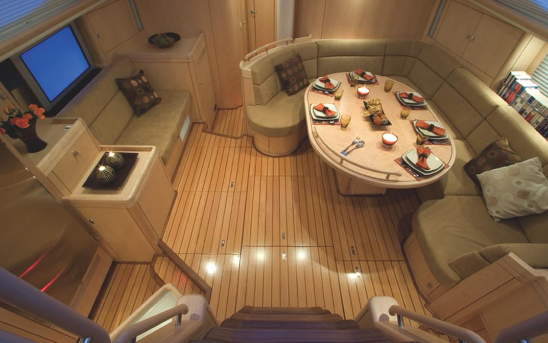 Saloon view from companionway