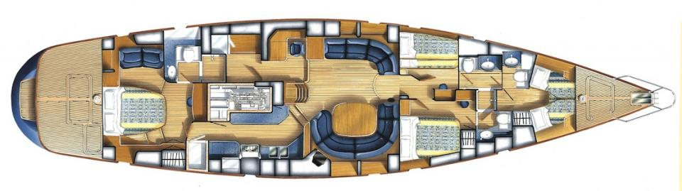 Oyster Brokerage Used Sailing Yachts For Sale Oyster 70 No Rehearsal Interior Layout