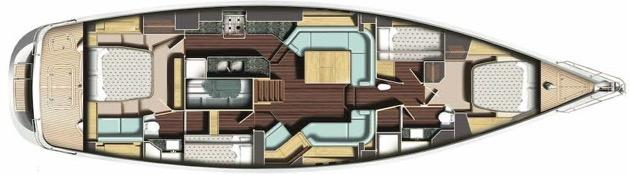 Oyster Brokerage Used Sailing Yachts For Sale Oyster 575 Tianelle Interior Layout