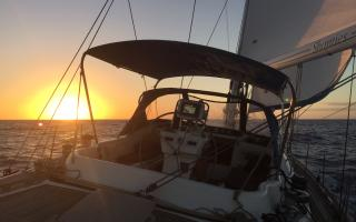 Oyster 56 Shanties Sailing Sunset