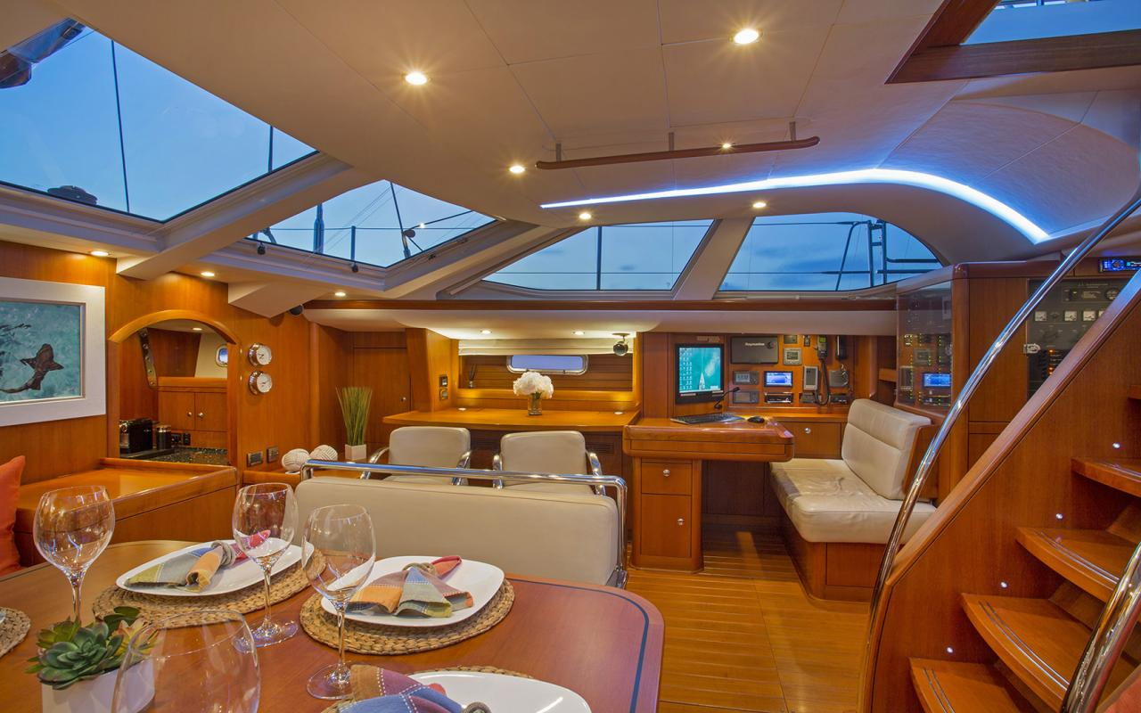 Oyster yachts brokerage Magrathea saloon 2