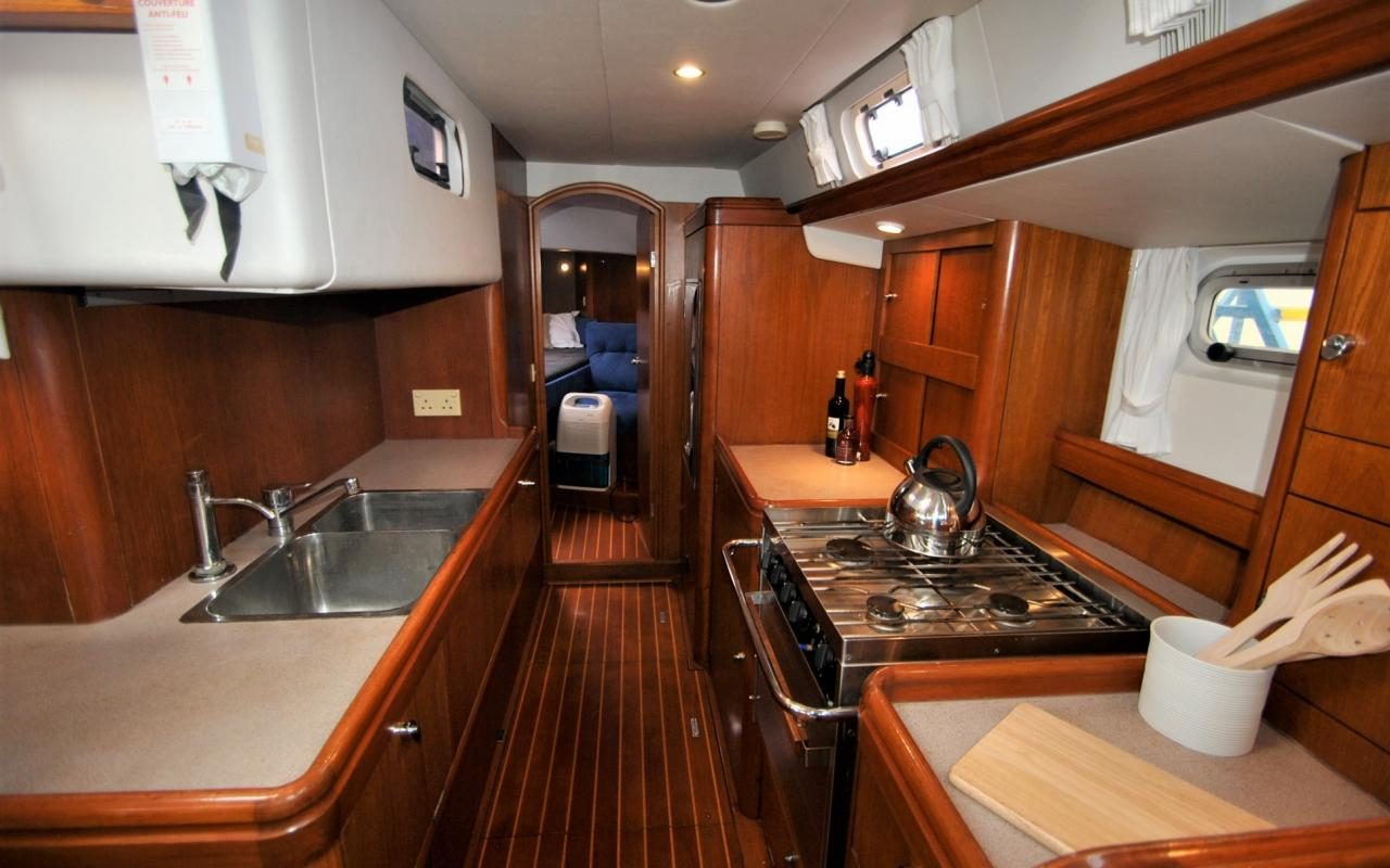 oysteryachts brokerage 45 12 degree of latitude galley