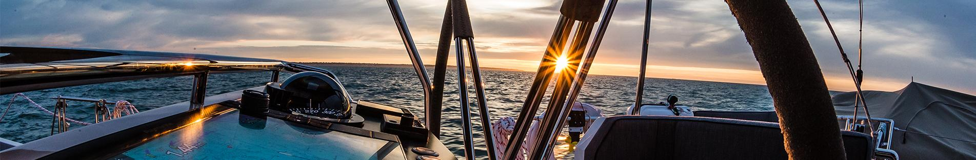 Helm Station on Oyster 1225 Sailing Superyacht