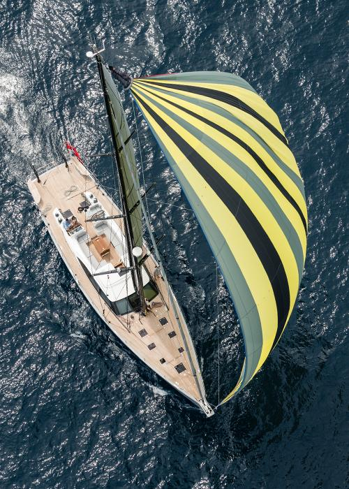 Top Down View of Oyster 745 Luxury Offshore Sailboat