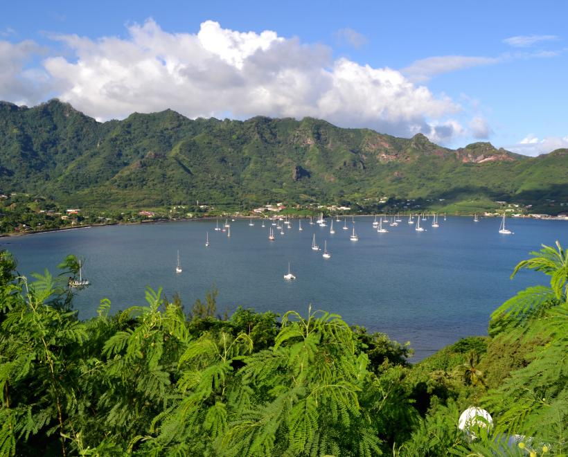 Oyster Yachts on the Oyster World Rally at Taiohae Bay Nuku Hiva