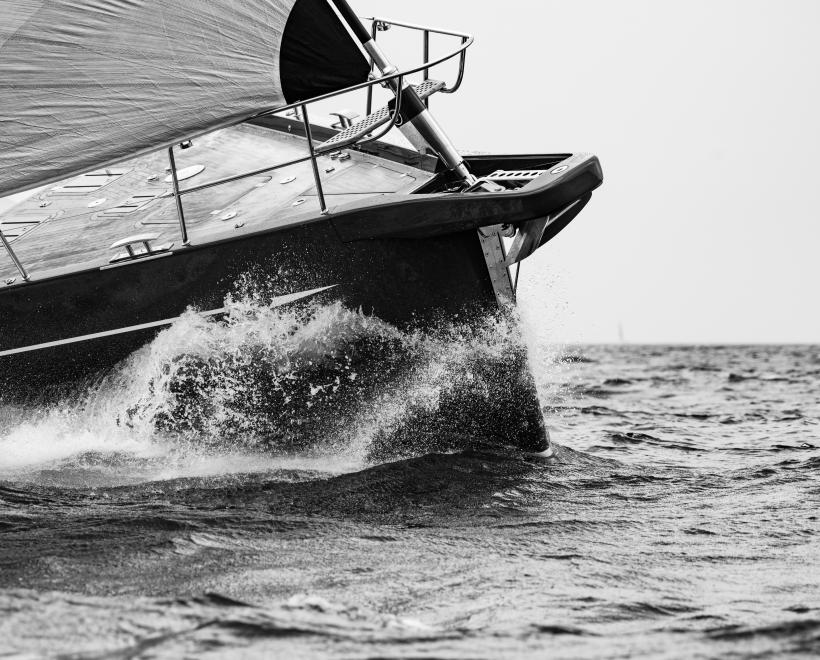 Bow of Oyster Yachts