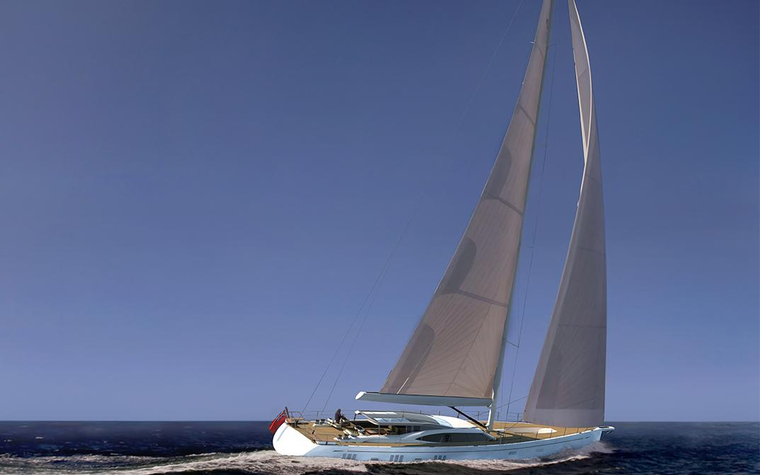 Exterior Composite of Oyster 1225 120 Foot Sailing Yacht