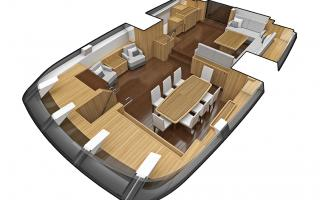 Interior Layout of Oyster 1225 Sailing Superyacht