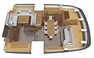 Main Saloon on Oyster 1225 120 Foot Sailing Yacht