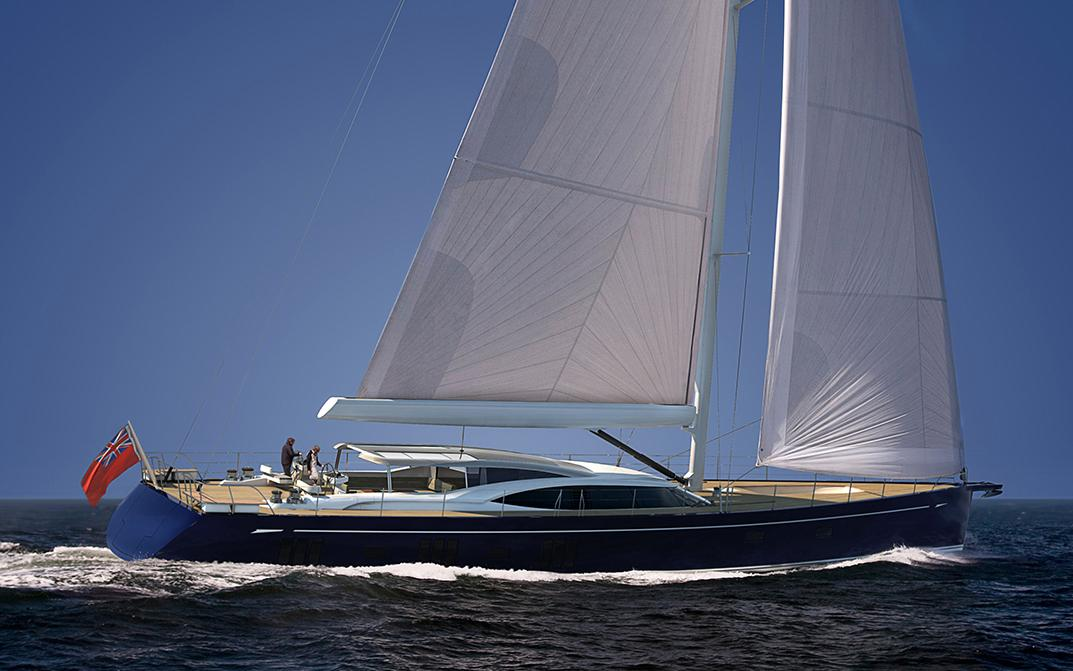 Oyster 1225 Super Sailing Yacht with Blue Hull