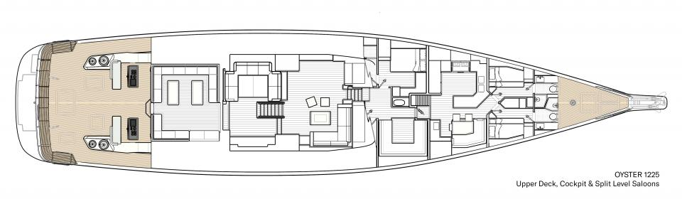 Oyster 1225 Upper Deck Interior Floor Plan