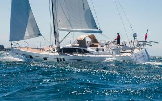 Oyster 565 56 Foot Sailing Yacht Underway