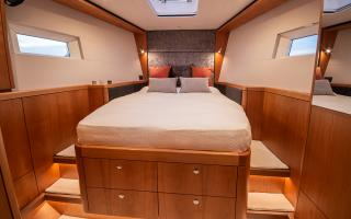 Oyster 565 Interior Forward Double Guest Cabin