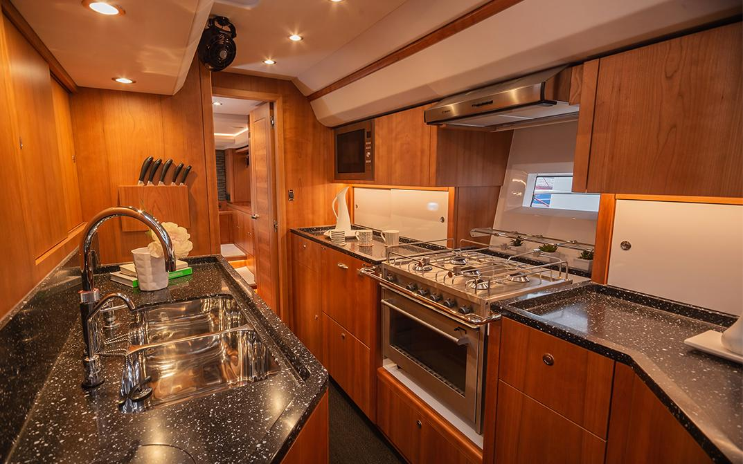 Oyster 565 Interior Galley Kitchen Aft