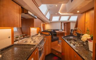 Oyster 565 Sailing Yacht Galley Kitchen Forward