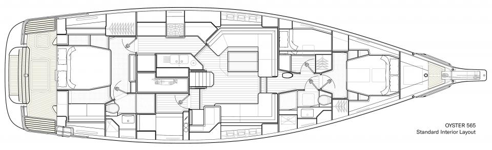 Oyster 565 Standard Interior Layout V3