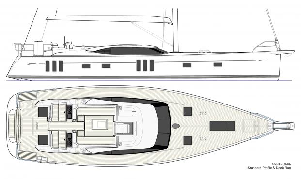 Oyster 565 60 Foot Sailboat | Blue Water Sailing Yacht