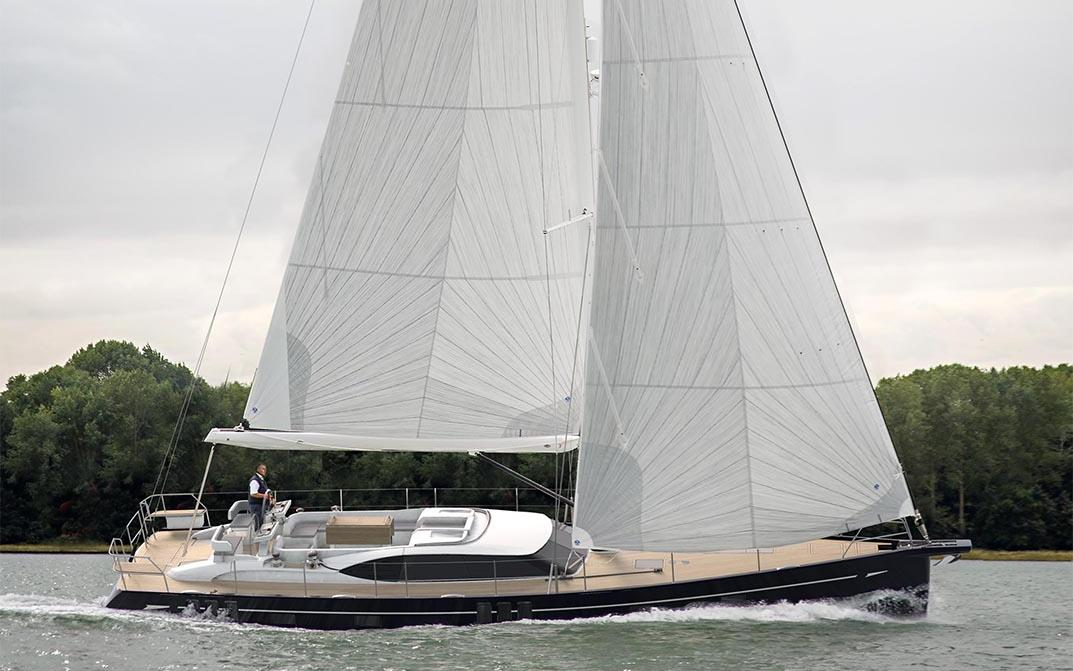 Oyster 595 60 Foot Sailing Yacht Underway