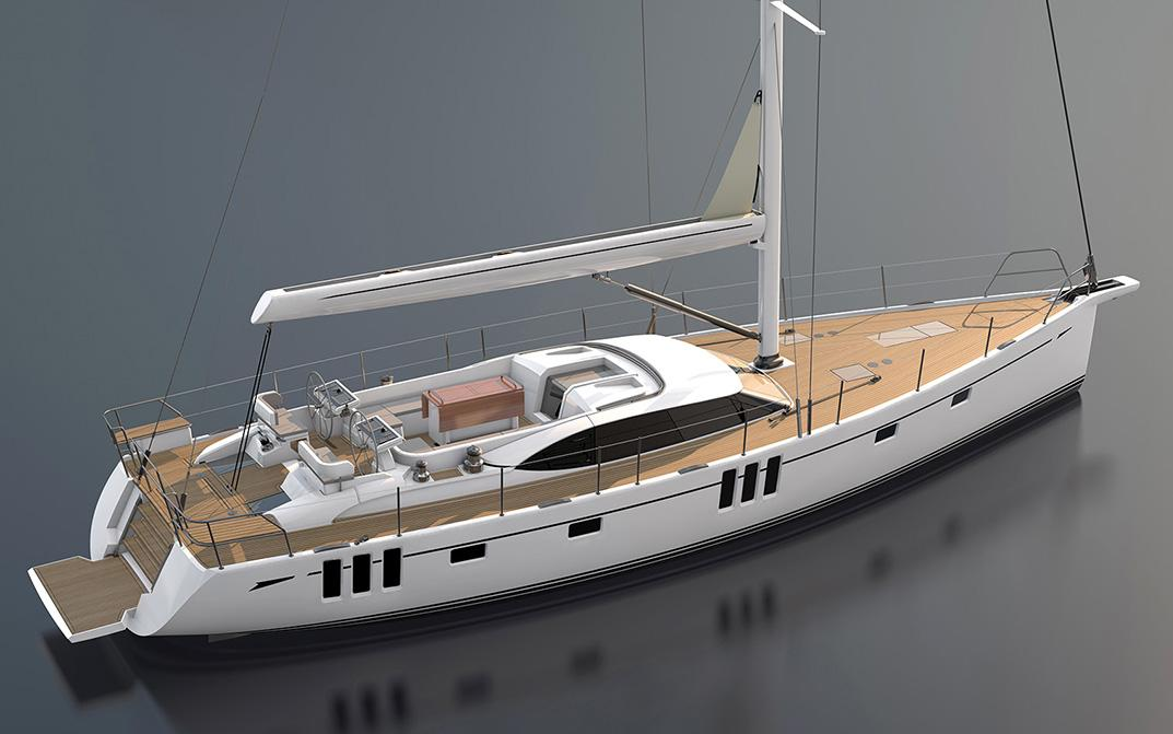 Oyster 595 New Sailing Yacht Rendering