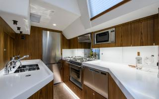 Galley Kitchen onboard 70 Foot Sailboat