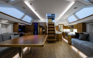 Oyster 675 Interior Main Saloon Aft