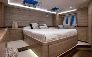 Oyster 675 Master Suite with Seascape Windows