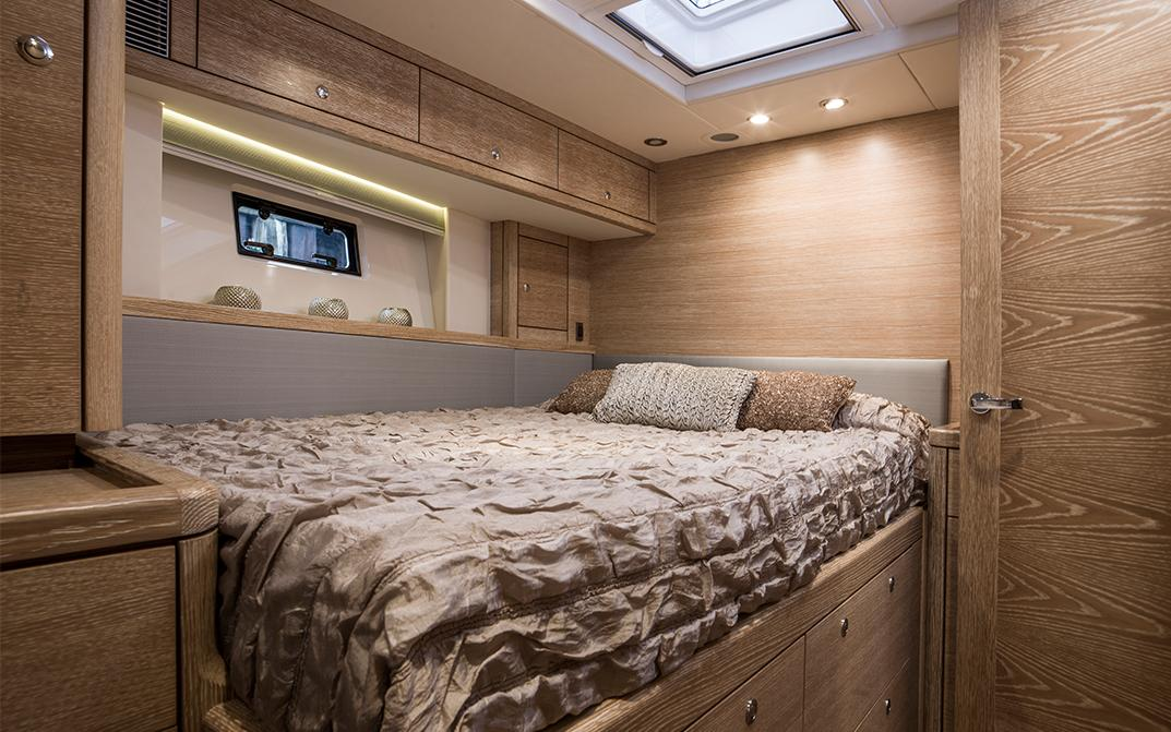 Double Guest Cabin on Oyster Ocean Sailboat