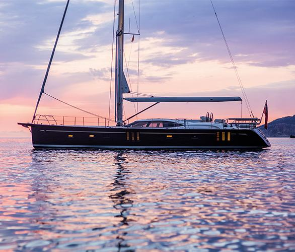 Oyster 675 Luxury Sailing Yacht at Anchor