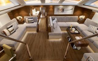 Oyster 745 75 Foot Sailing Yacht Interior Render 3