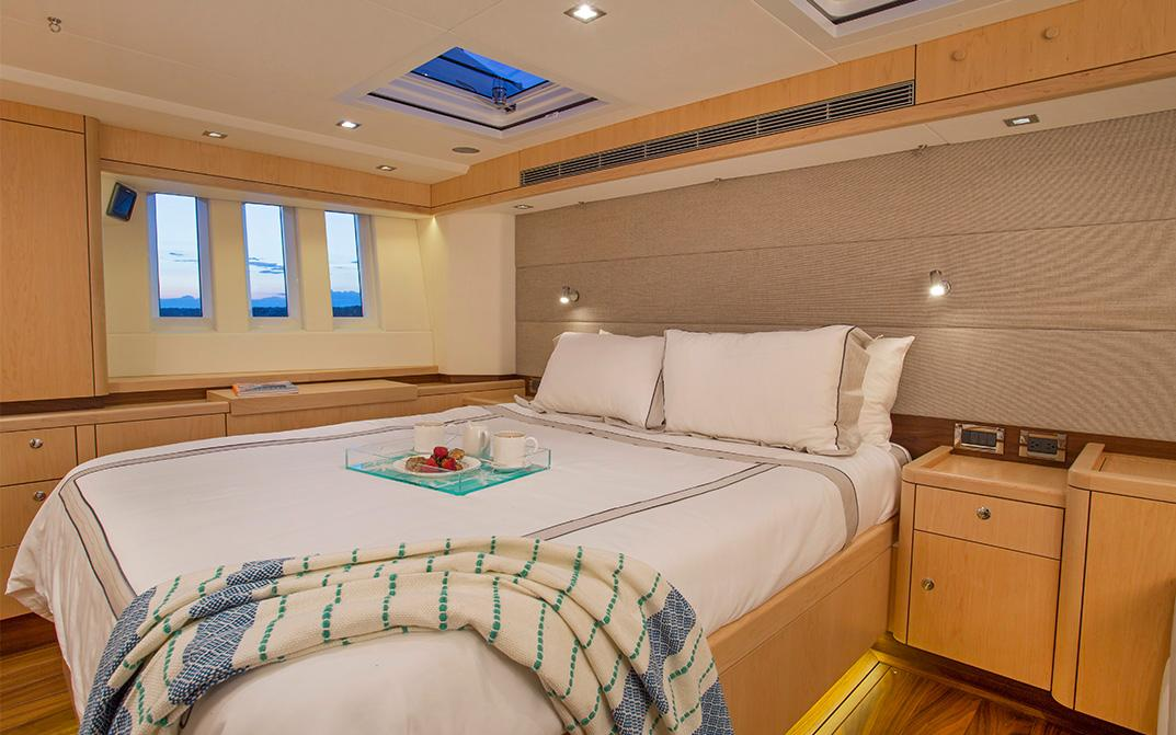 Master Cabin on Oyster 745 Offshore Sailboat