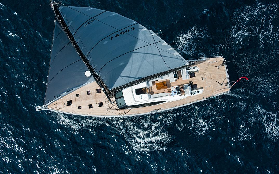 New Oyster Luxury Sailing Yacht Underway
