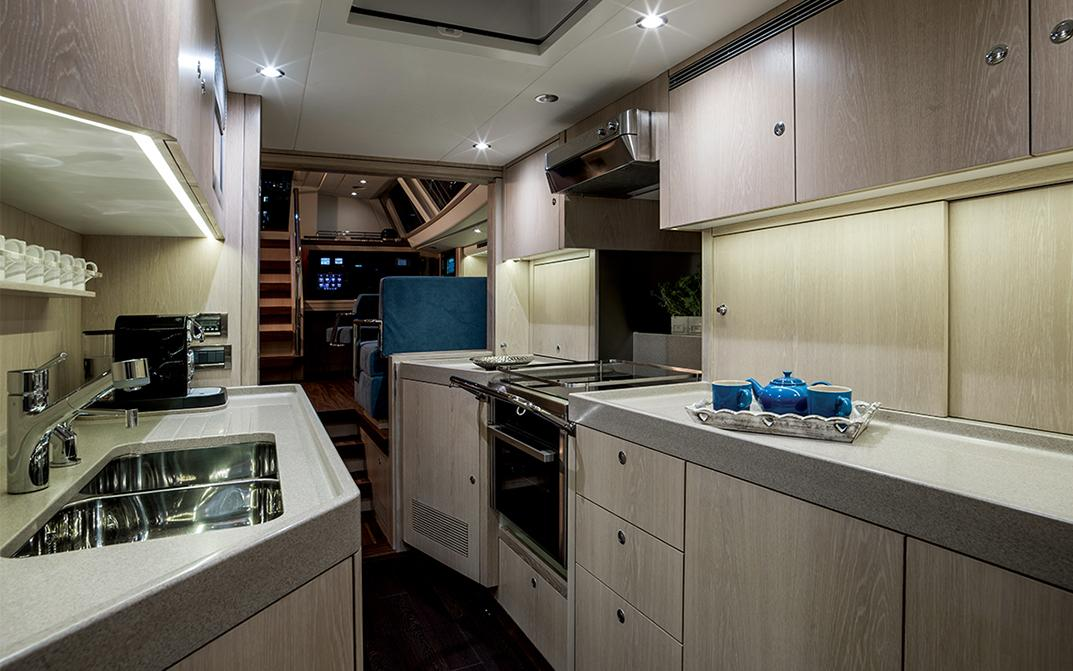 Oyster 745 75 Foot Sailboat Interior Galley