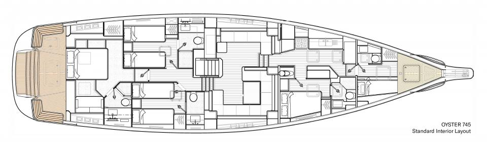 Oyster 745 Standard Interior Layout v2