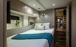Oyster 745 Forward Starboard Double Guest Cabin