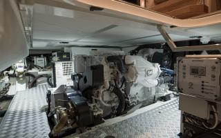 Oyster 745 Sailing Yacht Engine Room Interior
