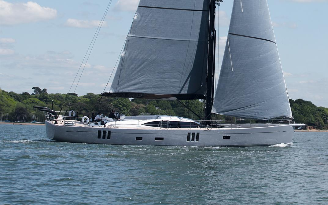 Profile of Oyster 745 75 Foot Sailing Yacht