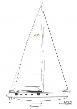 Standard Sail Plan for Oyster 745 Offshore Sailboat