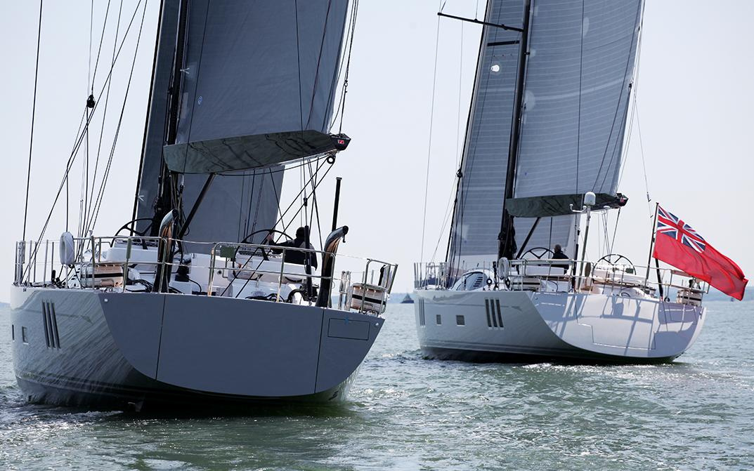 Two Oyster 745 Sailing Yachts Alongside