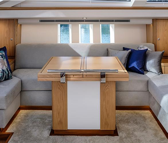 Seating Area Oyster 745 New Sailboat for Sale