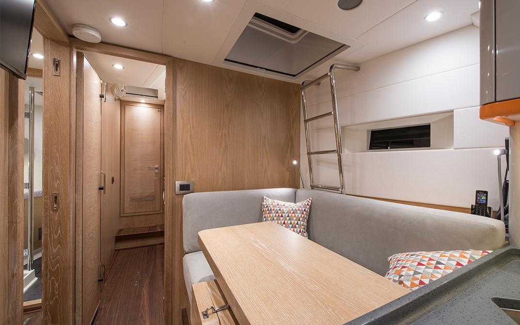 Crew Mess on Oyster 885 Crewed Sailing Yacht