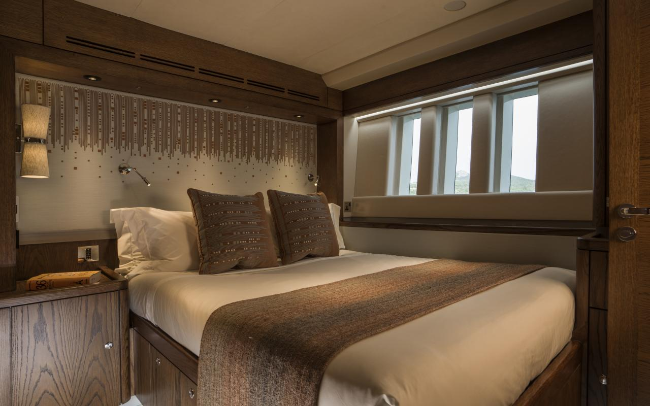Double Guest Bedroom on Oyster 885 Luxury Sailboat