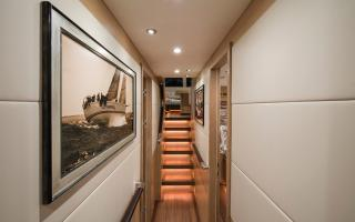 Aft Passage with Panelled Bulkheads on Oyster 885