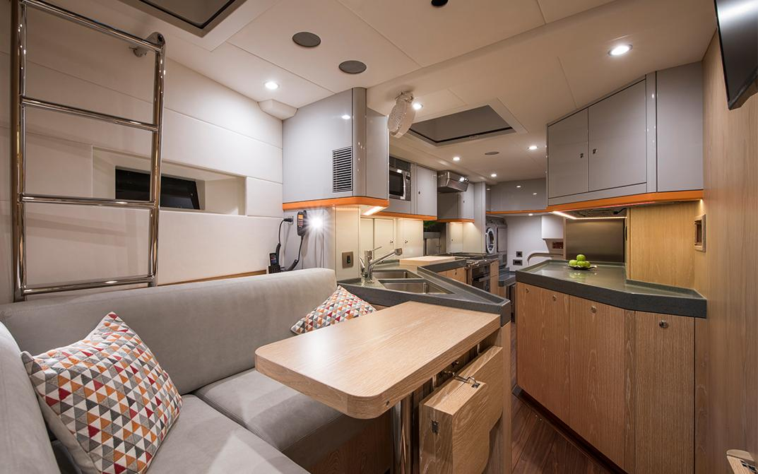 Crew Quarters on Oyster 885 Luxury Sailboat