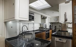 Galley Kitchen on Oyster 885 Luxury Sailboat
