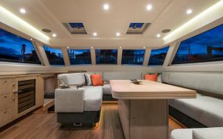Oyster 885 Luxury Sailboat with Crown Cut Limed Oak Joinery