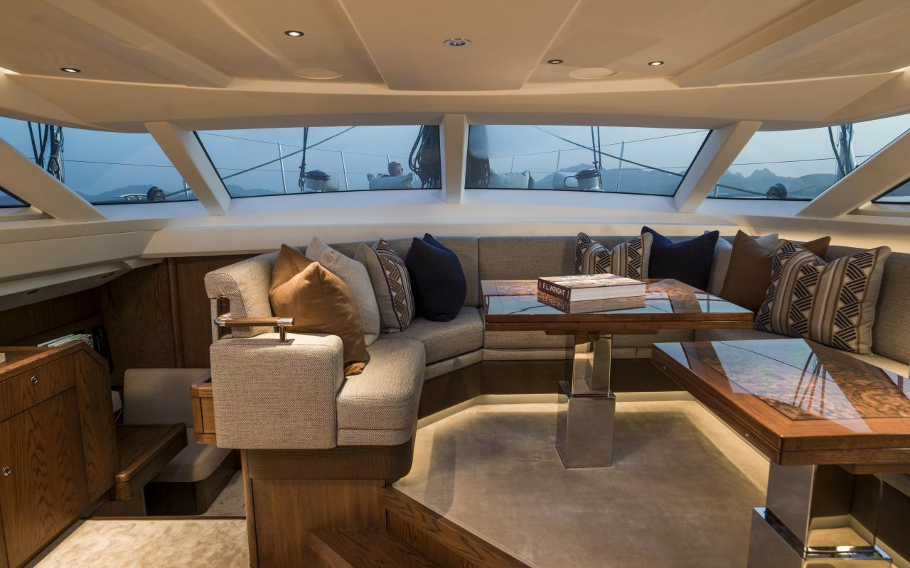 Oyster 885 Luxury Sailboat Interior with Upper Saloon