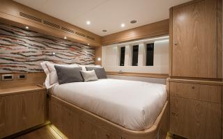 Double Guest Cabin on Oyster 885 Luxury Sailboat