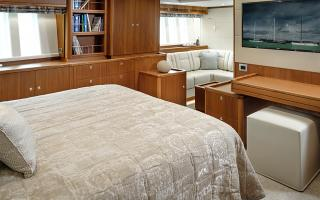 Enlarged Master Cabin on Oyster 885 Luxury Sailboat