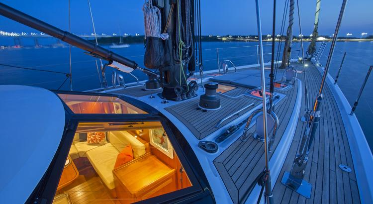 Foredeck of Oyster Pre-Owned Yacht