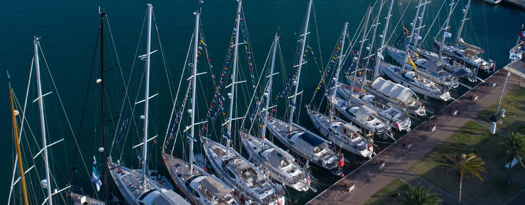 oyster luxury sailing yachts docked english harbour antigua